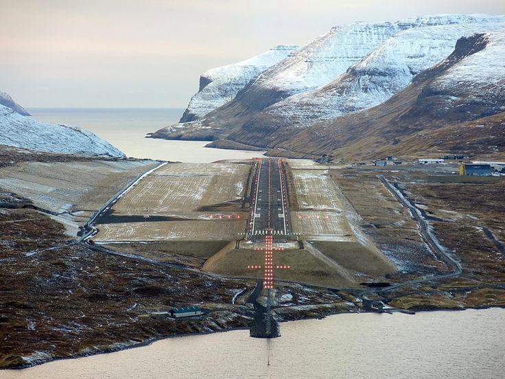 Vagar Airport, Faroe islands.