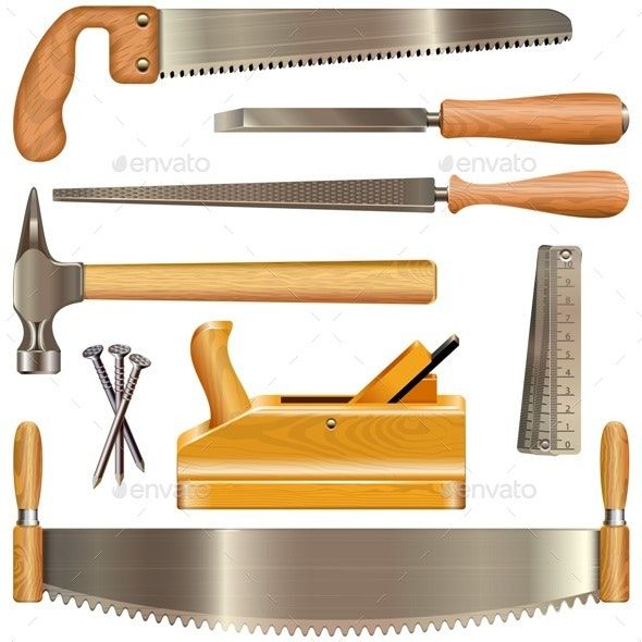 Vector Carpentry Tools Woodworking Woodworking Tips Carpentry Tools