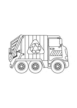 Garbage truck Coloring pages for