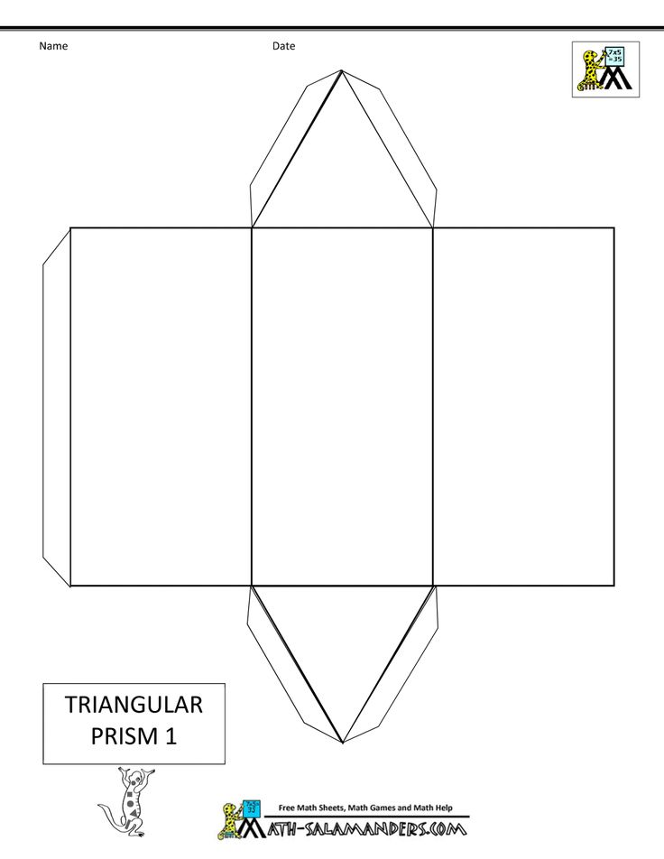 3d Geometric Shapes - Nets