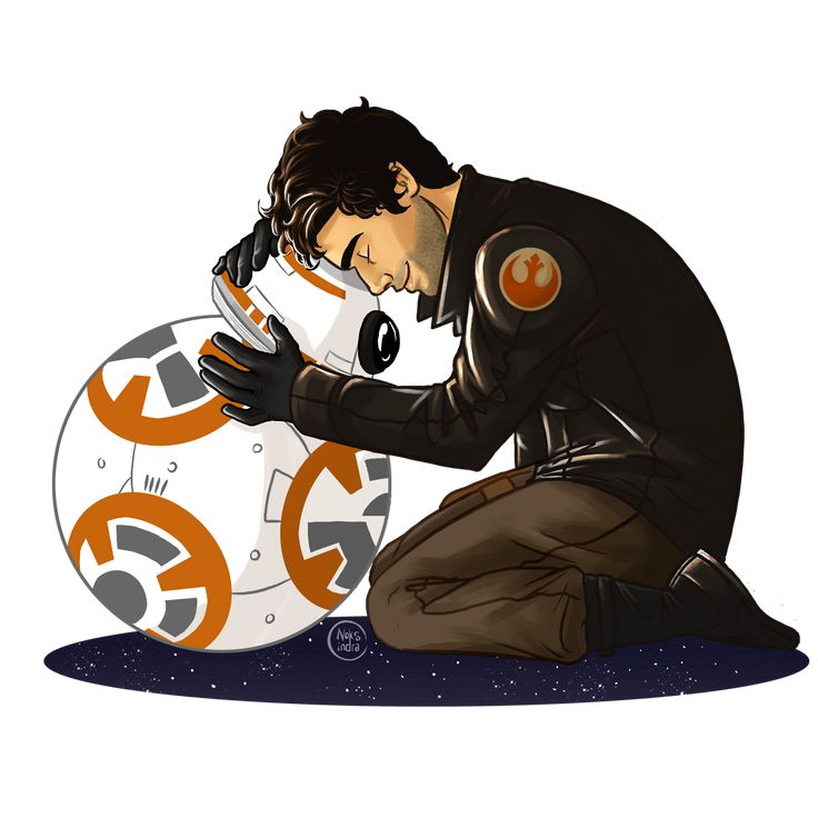 """Family pic - Poe Dameron & BB-8 "" I love them so much ;_;"