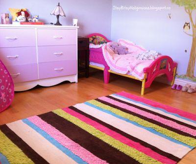 DIY Gradient dresser for a little girl's room