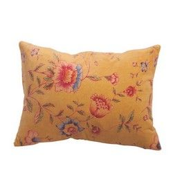 Yellow Velvet Wild Meadow Cushion Cover