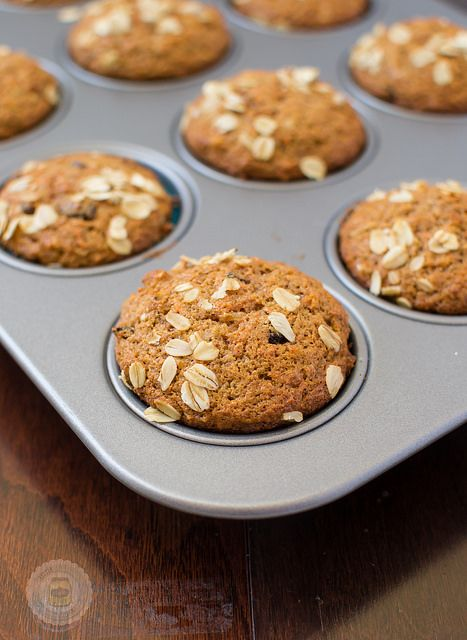 Super Moist and Healthy Carrot Cake Muffins Baked in Baking Pan by littlespicejar, via Flickr