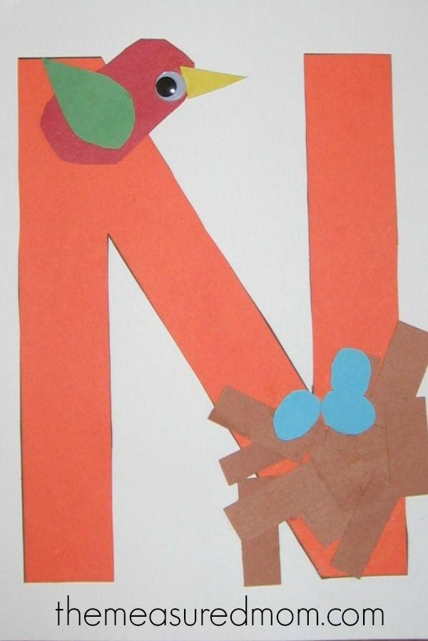 craft 6 the measured mom Letter N Crafts for Preschoolers