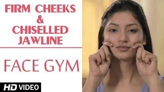 get chiseled face naturally for women - YouTube