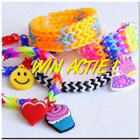 WIN actie bij KG Loomparty!! Maak kans op 4 gratis zakjes loom elastiekjes naar keuze uit het assortiment. Kijk op onze facebook pagina voor de regels https://m.facebook.com/profile.php?id=669267689828685