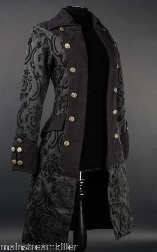 damen mantel jacke pirate princess coat brokat victorian gothic
