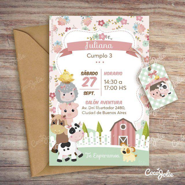 Kit Animalitos De La Granja Nena Imprimible Personalizable Party