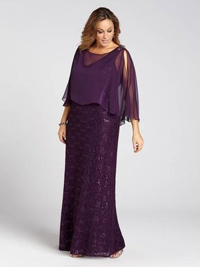 Laura Plus: for women size 14 . Graceful and glamourous, this evening gown lets you glitter all evening long. Featuring a lacy, sequined body with a sheer blush overlay, this effervescent look is a stunning option for any special occasion....5030103-0292