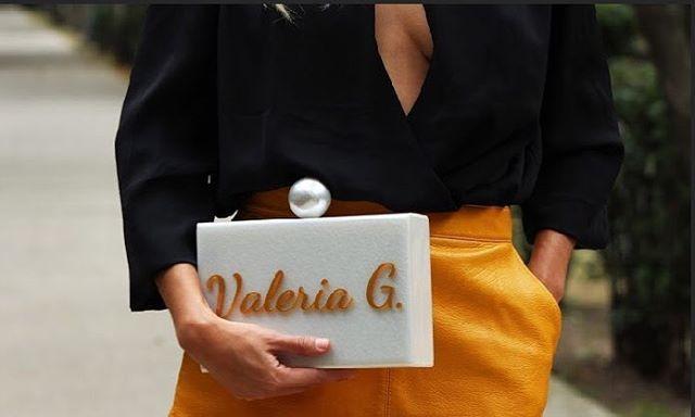 Beauty Brunch Blog con Bolsa tipo clutch personalizada con nombre