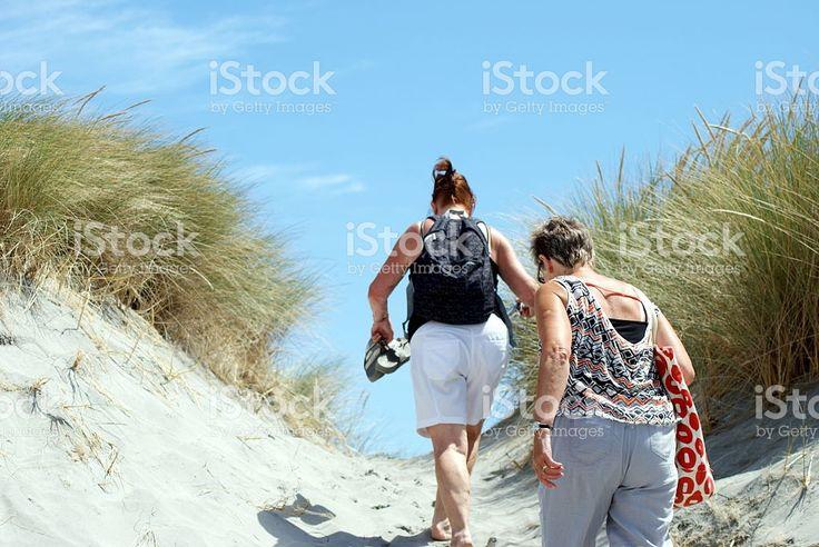 Senior Ladies on Beach royalty-free stock photo