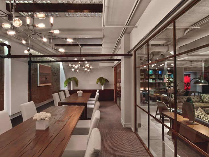 Modern Office Design Neuehouse New York By David Rockwell
