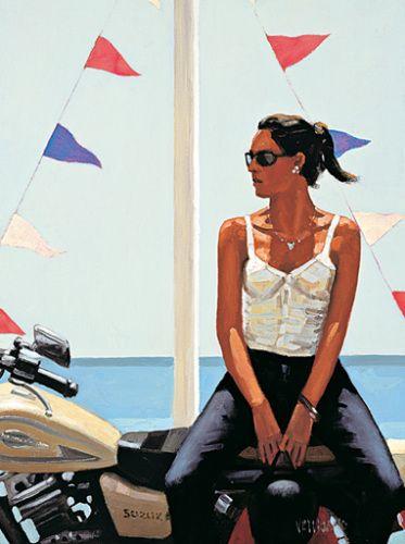jack vettriano paintings   La fille a la moto by Jack Vettriano