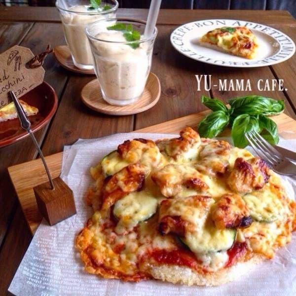 夏休みランチに カリもち ライスピザ *三男のお誕生日メッセージカード : ゆーママ(松本 有美)