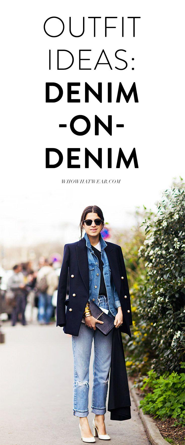Styling tricks to wear the denim-on-denim look. // denim outfits