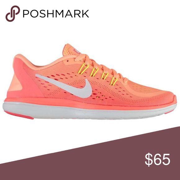 Nike Flex 2017 Run Running Shoes Orange Pink