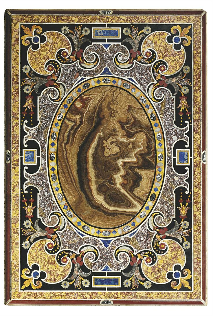 AN ITALIAN SPECIMEN MARBLE AND PIETRA DURA TABLE TOP   PROBABLY ROME,  19TH/20TH