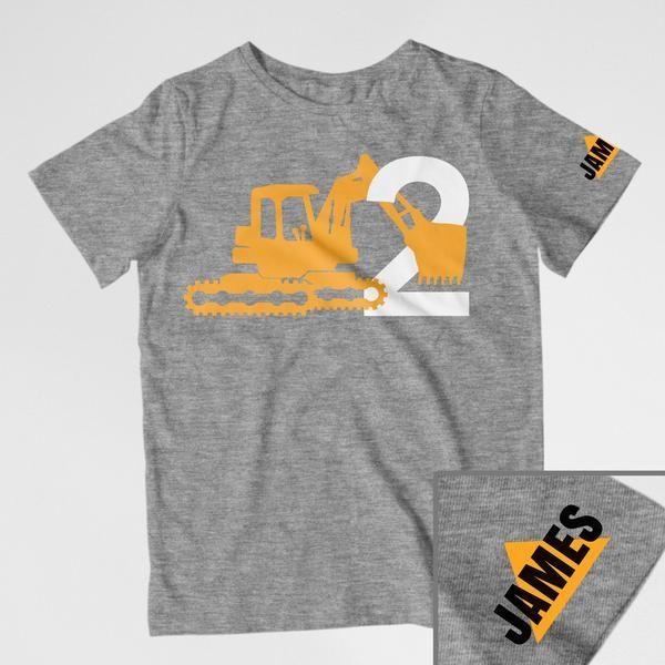 Construction birthday shirt, digger birthday tee, toddler construction shirt, construction theme, construction birthday, digger birthday, digger shirt