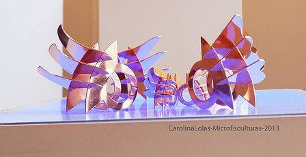 Micro esculturas base anillo 2013, Carolina Lolas