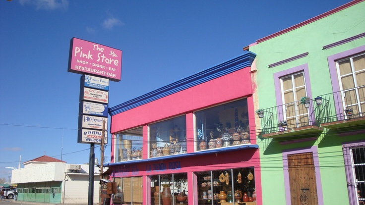 The Pink Store in Palomas, Mexico, Chih.