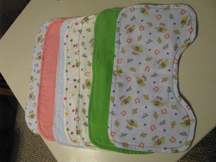 Sewing - Burp Clothes - just flannel | Projects - Things I ...