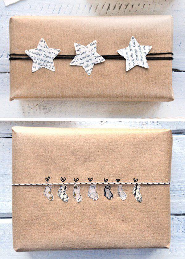 DIY – 9 schöne und wirkungsvolle Verpackungen für Weihnachtsgeschenke mit Packpapier und einfachen Materialien – Linda