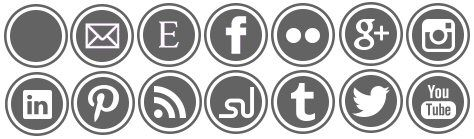 A Typical English Home: Free Social Media Icons in 12 Colours