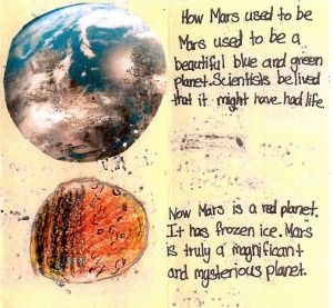 Red Planet: Read, Write, Explore! -- Red Planet: Read, Write, Explore! incorporates science into elementary school literacy activities. The project's flexible, standards-based curriculum uses literacy, art, and creative expression as a vehicle for the topic of Mars exploration.