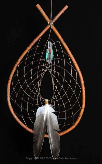 Authentic Red Willow Tee Pee Dream Catcher With Quartz Crystal / Coral and Turquoise Bundle
