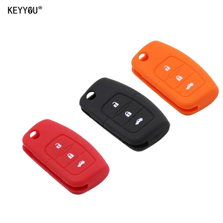 KEYYOU Silicone Car Flip folding key Cover Remote Case for Ford Fiesta Focus 2 Ecosport Kuga Escape 3 Buttons Free Shipping www.peoplebazar.net    #yourhashtag