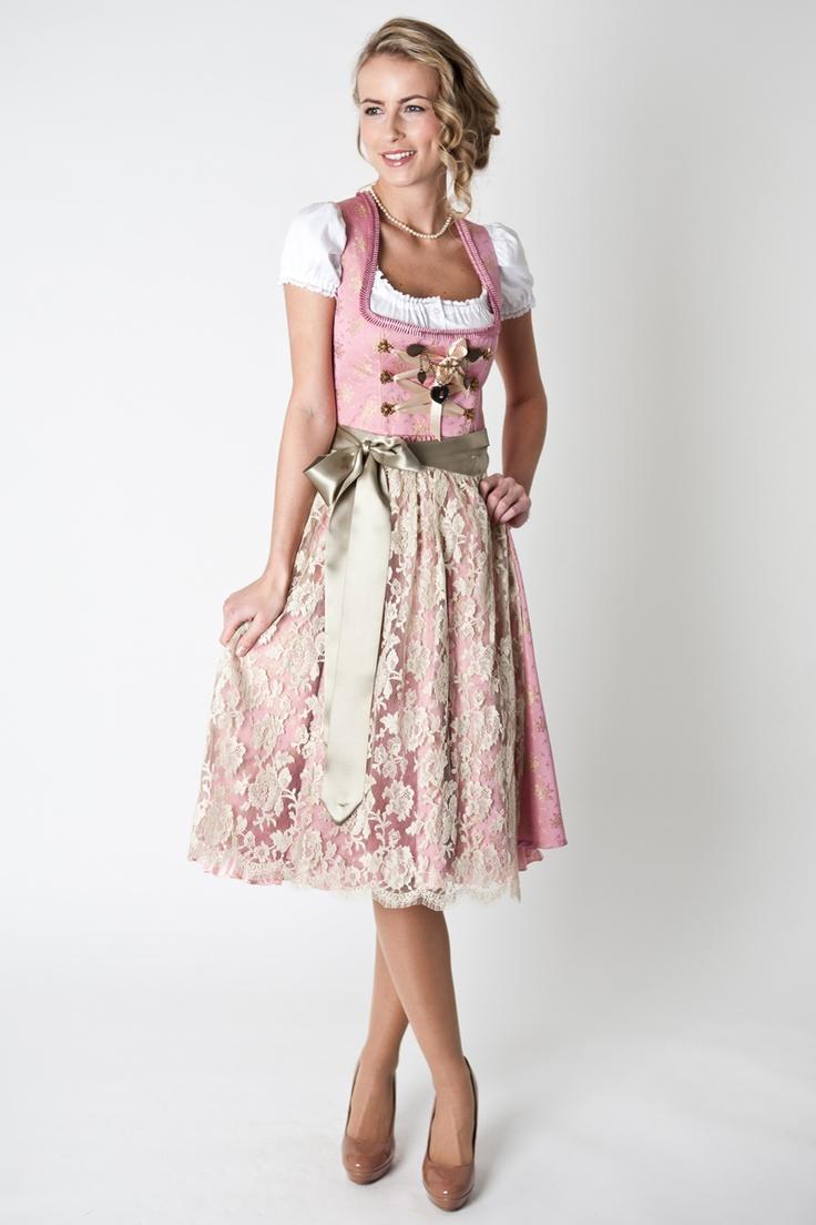 Dirndl Josefine, rosa gold, 3-tlg
