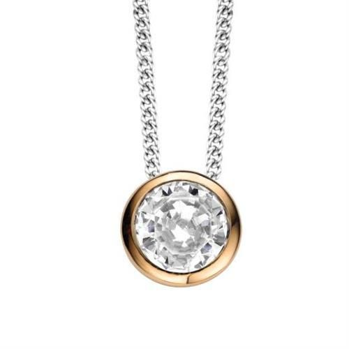 Ti Sento Necklace 3807ZR (42cm) Sterling Silver, Rose Gold  CZ
