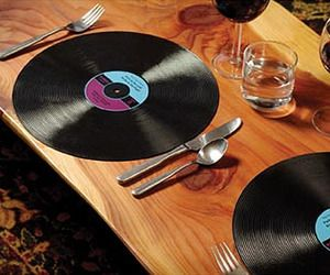 Record placemats are great for a 70's party or a wedding reception for music lovers!