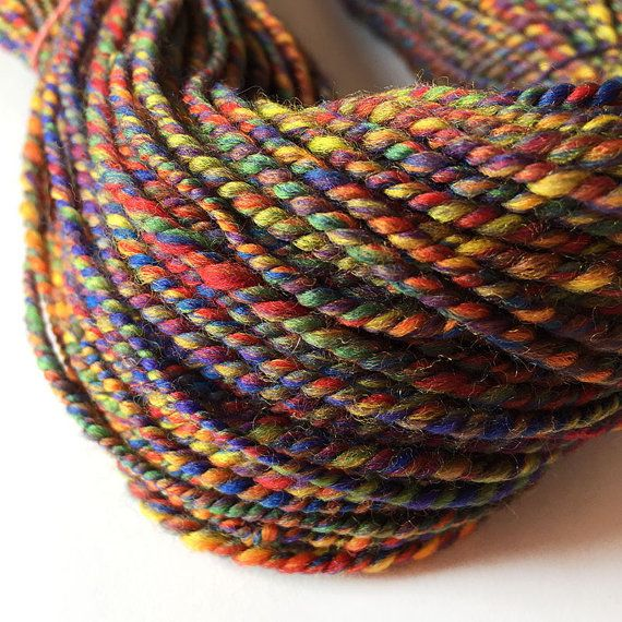 Handspun Yarn Hand Spun Yarn 100% Merino Wool Plied by ArtyThreads