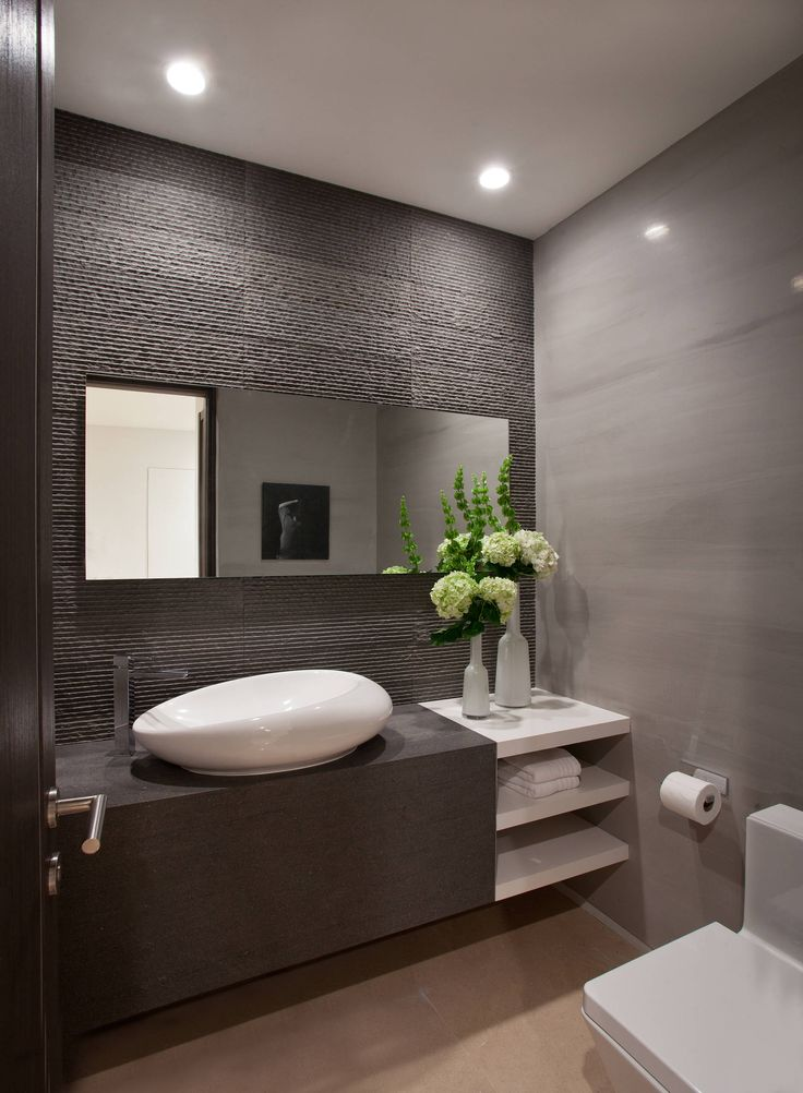 The Art Gallery Golden Beach Contemporary Bathroom Grey Slate BathroomGrey Bathroom DecorSmall Grey BathroomsModern Bathroom