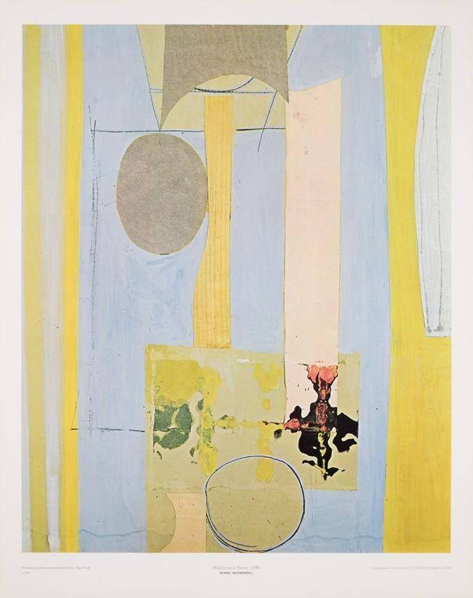 Robert Motherwell Mallarme's Swan 1944 Original Lithograph https://www.etsy.com/listing/591761973/robert-motherwell-mallarmes-swan-1944?utm_campaign=crowdfire&utm_content=crowdfire&utm_medium=social&utm_source=pinterest #robertmotherwell #abstractart #abstract #art #robertmotherwellinthestudio #blue #abstraction #abstractpainting #abstractexpressionism #artwork