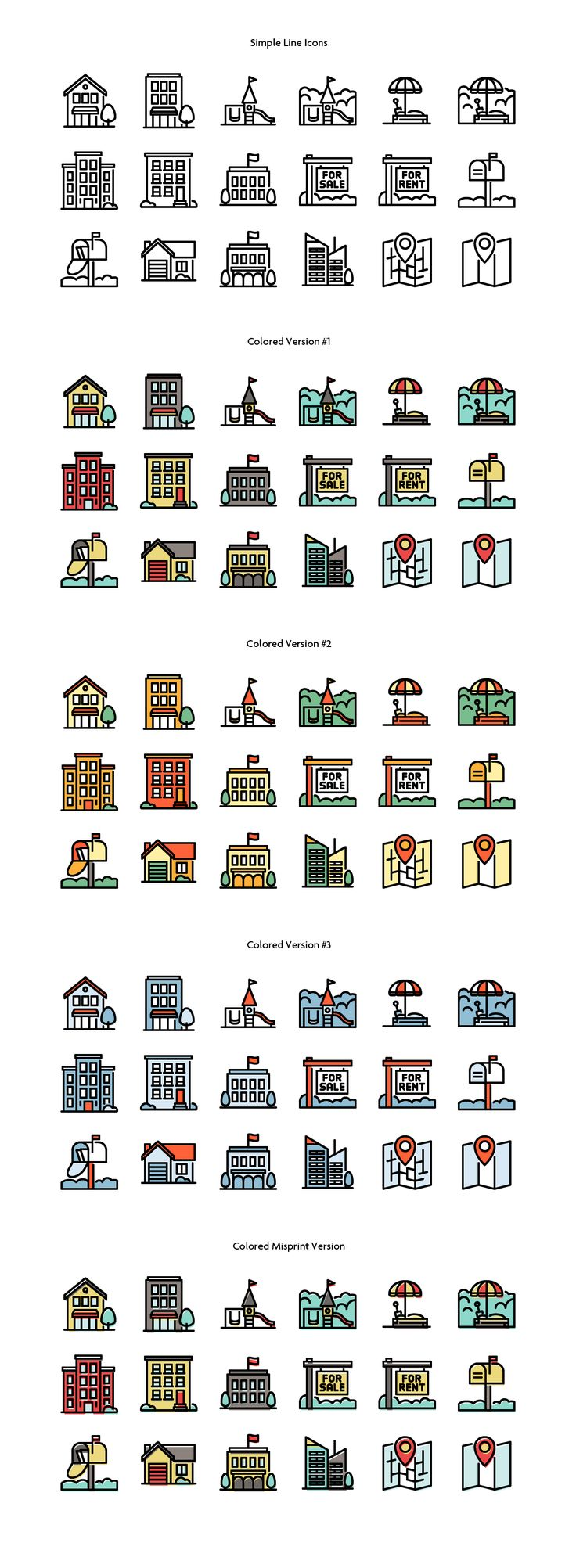 Building & City Icons on Behance