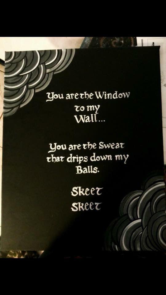 rap lyrics to the window to the wall skeet skeet canvas art