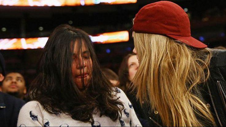 El tremendo Jumo de la actriz Michelle Rodríguez en un partido de la NBA #Fotos - Cachicha.com