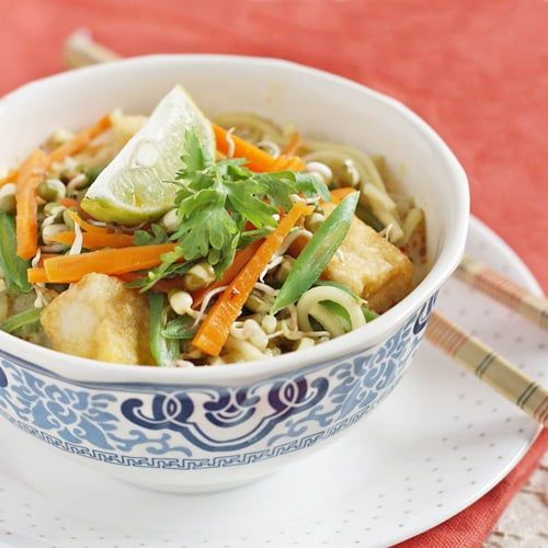 A Vegetarian Curry Laksa - A Spicy South East Asian Noodle Soup Recipe | My Diverse Kitchen - A Vegetarian Blog