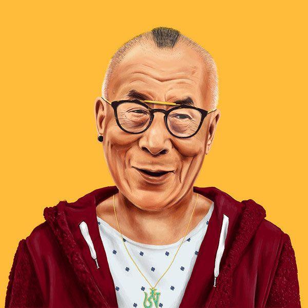 Barack Obama, le Dalai Lama et pleins d'autres en mode hipsters