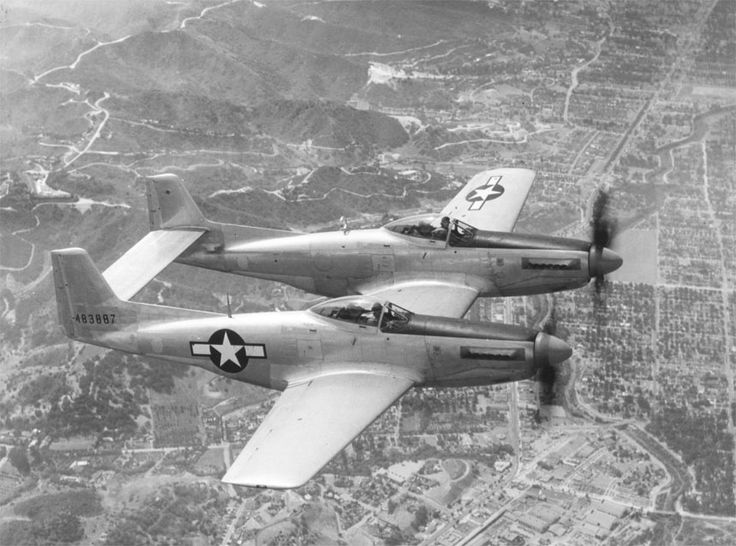 The North American F-82 Twin Mustang was the last American piston-engine fighter ordered into production by the United States Air Force. Based on the P-51 Mustang, the F-82 was originally designed as a long-range escort fighter in World War II. The war ended well before the first production units were operational.