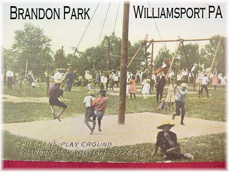 Band Shell At Brandon Park Williamsport PA Postcard
