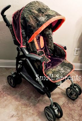 Camo Baby Furniture | Camo Baby Mossy Oak Breakup Stroller Cover with Buck Brown Monogram