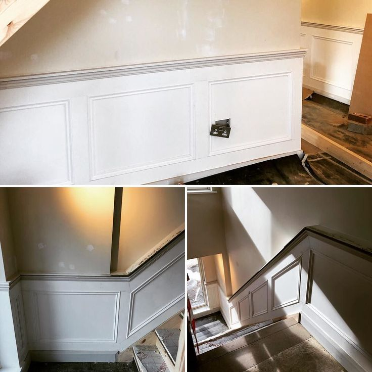 Panelling work taking shape on site in Dundrum. Primed sanded and ready for paint. #recent #irishhomes #irishinteriors #wallpanelling #wainscoting #sitework #excitingprojects #bespokepanelling