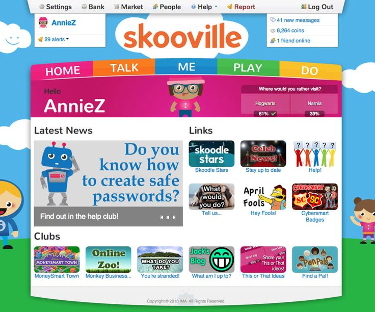 Skooville - a nice social networking that is safe for kids and teaches cyber safety