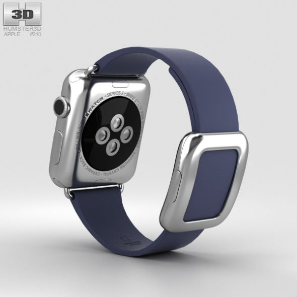 Apple Watch Series 2 38mm Stainless Steel Case Midnight Blue Modern Buckle Apple Watch Series 2