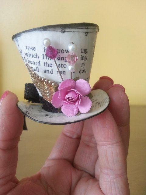 Miniature Victorian Steampunk Mad Hatter Tophat by Gen3studioS, $20.00