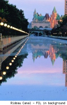 Chateau Laurier and Rideau Canal, Ottawa